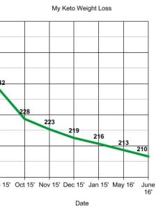 Eventually my weight loss evened out to lbs per month here is another chart showing progress up june of also how  lost on the keto diet before and after nerdy millennial rh nerdymillennial