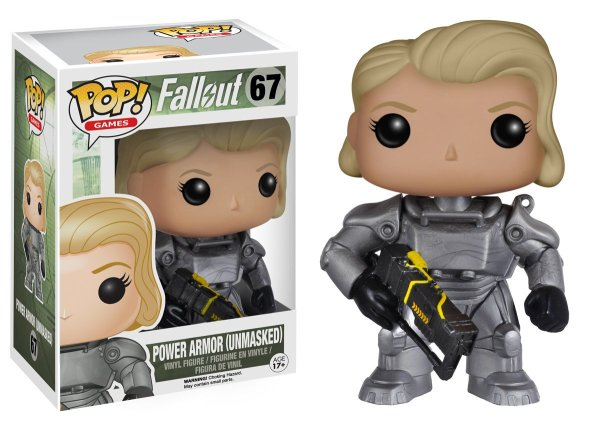 Power Armor Female (Unmasked) – Fallout #67 Pop Vinyl
