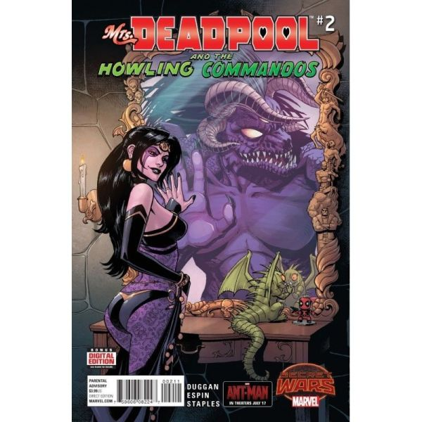Mrs. Deadpool and The Howling Commandos #2 First Edition Bagged & Boarded NM