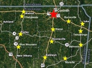 Northeast Regional Library Map