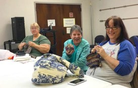 The Crafty Crafters Knit & Crochet Group meets at the Iuka Library.