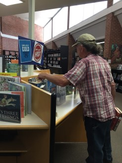 A patron browses at Corinth library Snapshot Day at Iuka Library, August 6, 2019