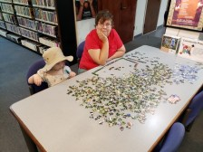 The Iuka library has puzzles! Snapshot Day at Iuka Library, August 6, 2019