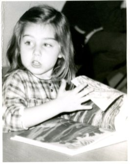 A young patron at the Northeast Regional Library opening in 1970.