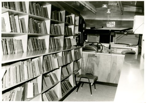Inside the Northeast Regional Library Bookmobile in Corinth, MS.