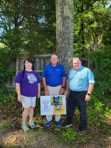 Booneville Story Walk • NERL Director Dee Hare with Parks Director Jon Hill and Mayor Chris Lindley
