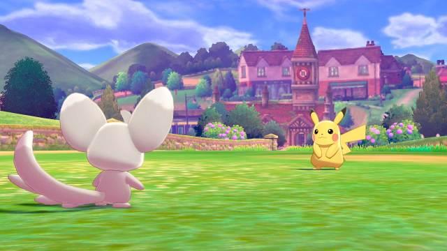 Combate de Pikachu en Galar