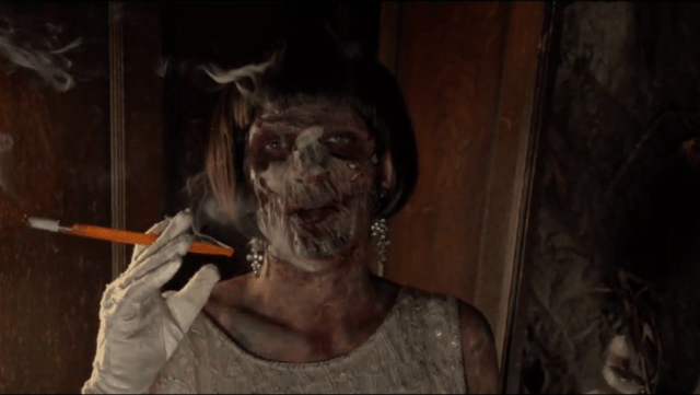 Also, kudos to the effects team for having the smoke also come out of Rose's slit throat. Attention to detail is always appreciated