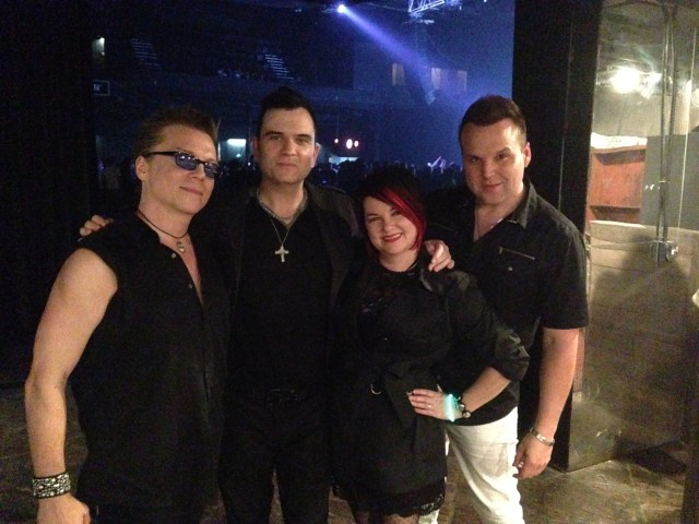 Rody, Christopher Anton, Donna Jean, and Jayden Frost at the Electric Dreams concert this year