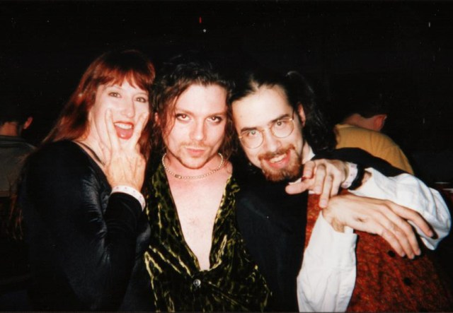 Stinkerbell (don't ask), Rody, and I at a Famous Monsters concert circa 1998