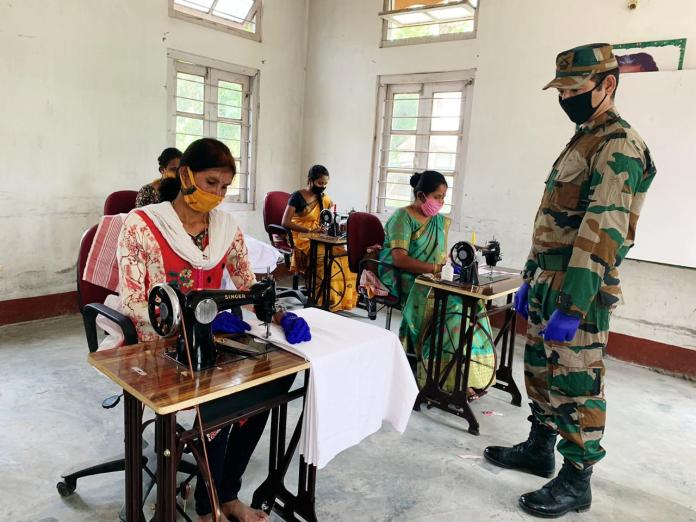 Indian army fights against COVID-19
