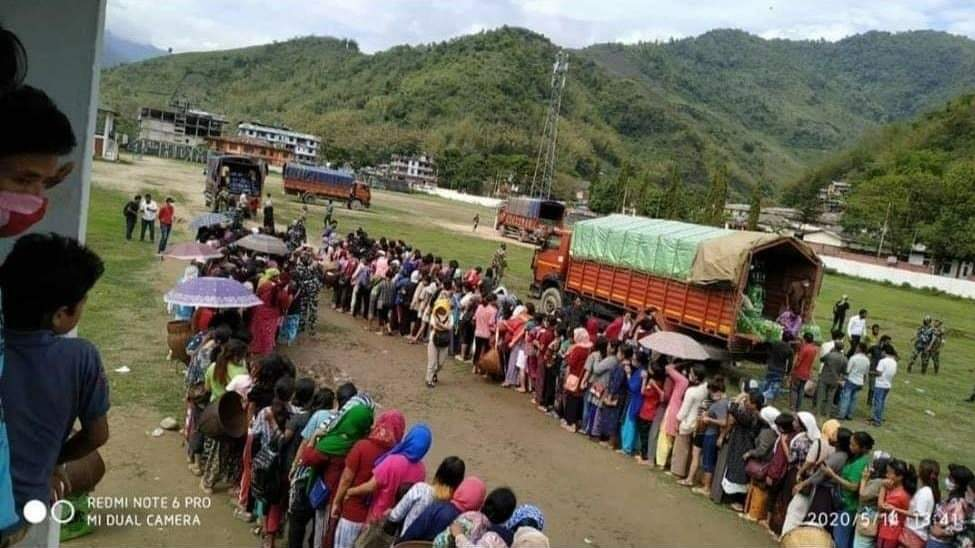 Social Distancing goes for a toss in Arunachal Pradesh