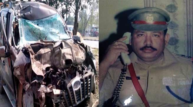 सड़क दुर्घटना में DSP सदानंद हजारिका की मौत