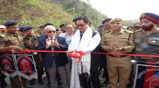 किरण रिजीजू ने किया BRO द्वारा निर्मित पुलों का उद्घाटन