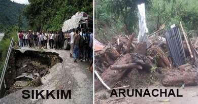सिक्किम और अरुणाचल में बारिश से तबाही, बहे घर, गाड़ियां, इंसान, और सड़क