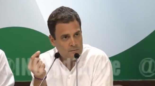 राफेल डील पर राहुल गांधी का प्रेस कांफ्रेंस, PM मोदी पर बोला हमला