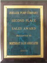 Zoeller Sales Award 2002