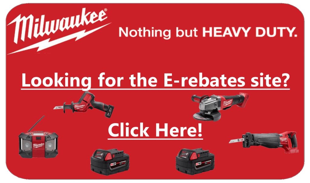 Milwaukee Tool eRebates Badge
