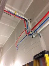Uponor install with Holdrite and Uponor Snapbends - Town of Clarence