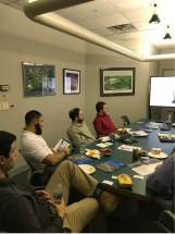 Uponor Lunch and Learn going through literature