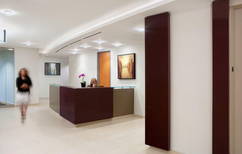 Reception area of our office in Arlington VA at Ballston