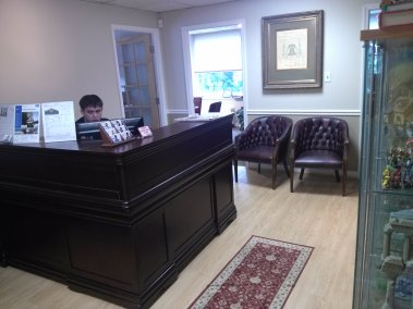 Reception at Nesbitt Realty Headquarters