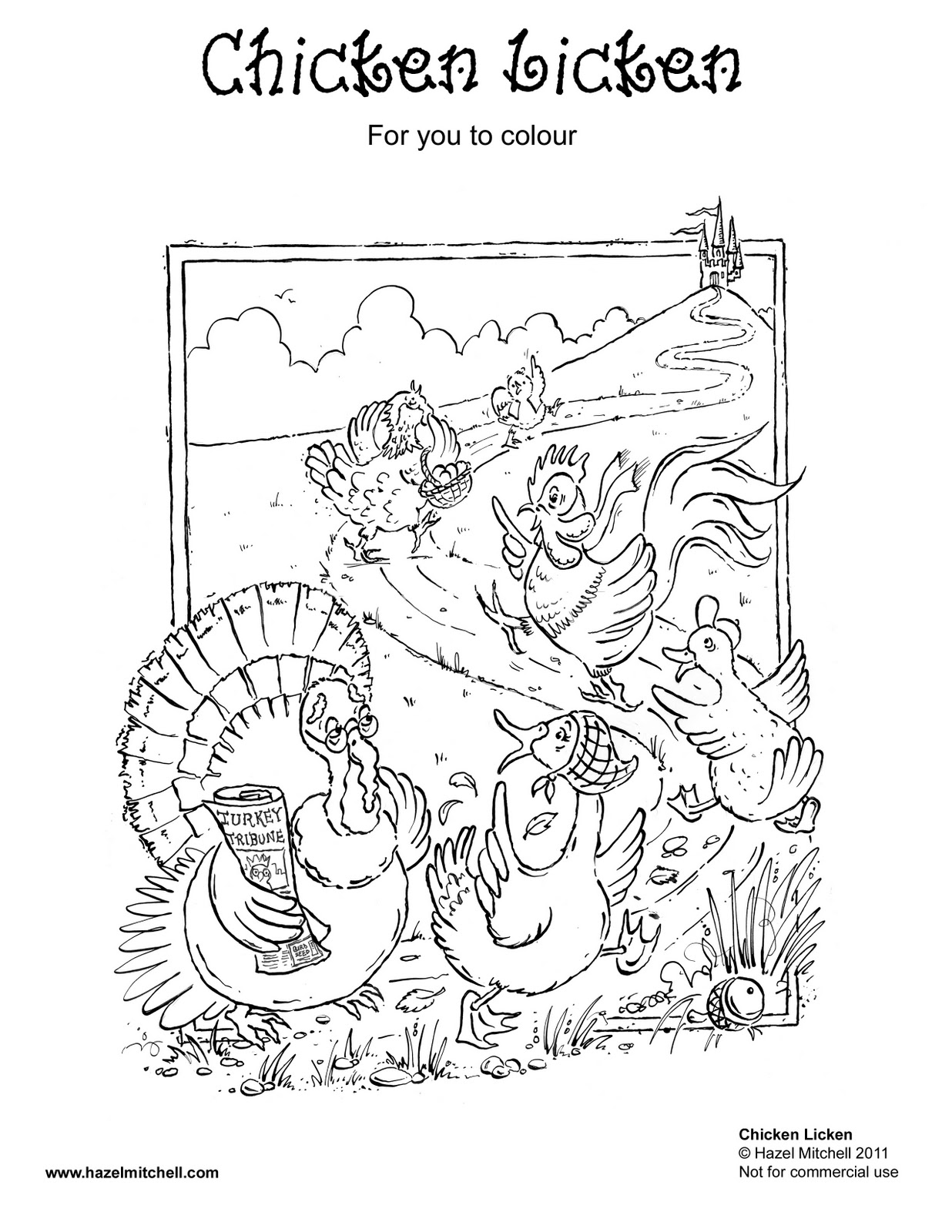 Hazel Mitchell: KID'S COLOURING PAGE