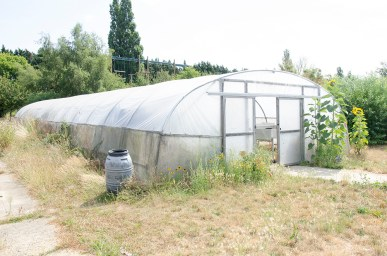 rustic farm building greenhouse