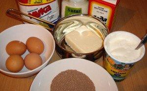 Ингредиенты для торта «Зебра»