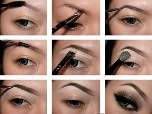 как красить брови карандашом пошаговая инструкция