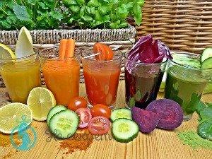 Овощные и фркутовые соки от морщин на лице