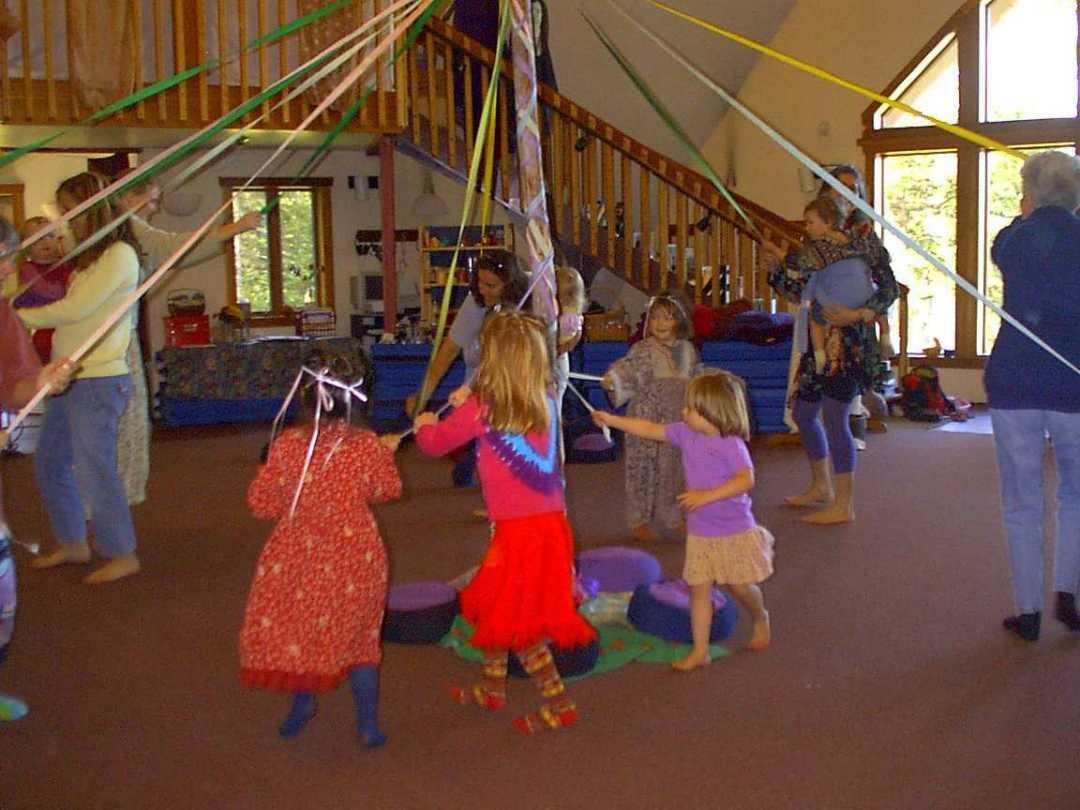 Maypole Kids Dancing
