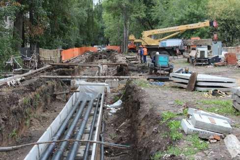 Работы по ремонту теплосетей в Центральном районе должны быть завершены до середины сентября