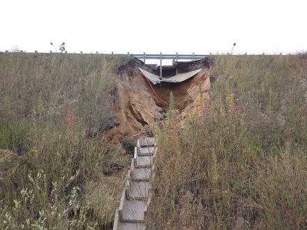 Новая дорога до аэропорта Курумоч начала обрушаться