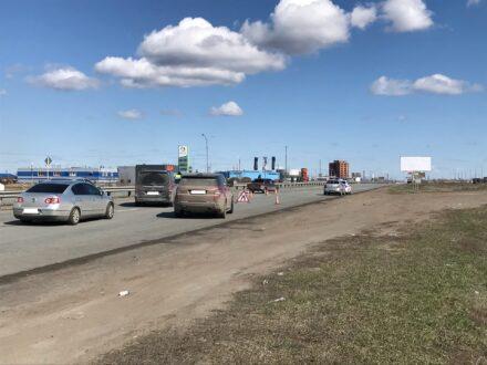 На выезде из Тольятти образовалась пробка