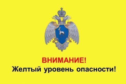 В Самарской области объявлен жёлтый уровень опасности