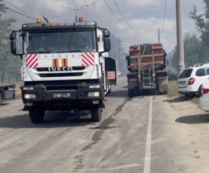 «Ситуация осложняется»: на тушение тольяттинского леса стягивается техника из Самары