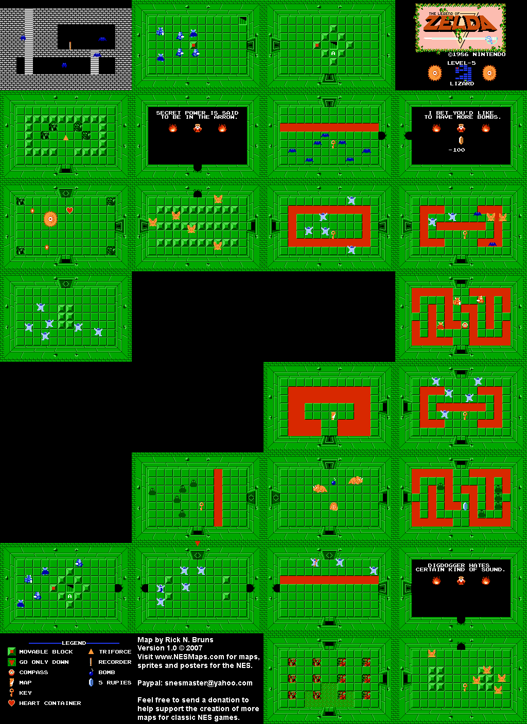 Legend Of Zelda Secrets Map : legend, zelda, secrets, Legend, Zelda, Level, Lizard, Quest