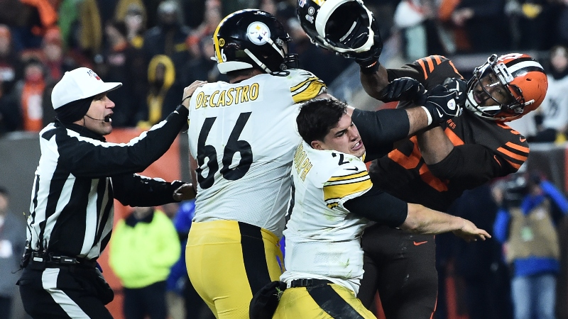 Mason Rudolph Blasts Myles Garrett's 'Coward Move' In Steelers-Browns Brawl