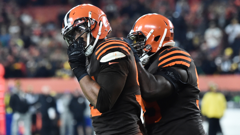 Here's Myles Garrett's Explanation For Smashing Mason Rudolph With Helmet