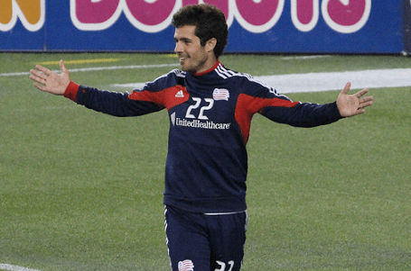 Benny Feilhaber, shown here in pre-game apparel last summer, knows it'll be a different feeling coming back to Gillette Stadium as a guest on Saturday. (Photo: Kari Heistad)