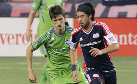 Lee Nguyen and his Revolution teammates will be looking to score their first victory in the Emerald City in nearly four years on Saturday. (Photo: Kari Heistad/CapturedImages.biz)