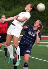 Mutiny forward Tori Sousa (left) helped steer her club to a 3-1 victory. (Photo: Mutiny Media Relations)