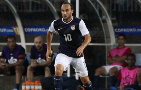 Landon Donovan scored twice en route to a 3-1 United States win over Honduras in Wednesday's Gold Cup semis. (Photo: Kari Heistad/capturedimages.biz)