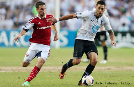 Clint Dempsey scored his first goal of Spurs 2013 preseason against South China on Saturday. (Photo: Tottenham Hotspur)