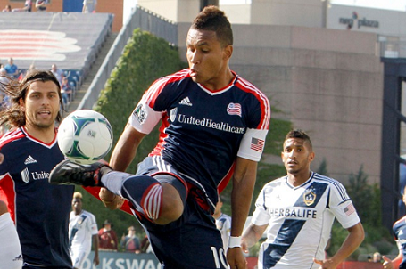 Revolution striker Juan Agudelo signed a future contract with Stoke City earlier this week. (Photo: Chris Aduama/aduama.com)