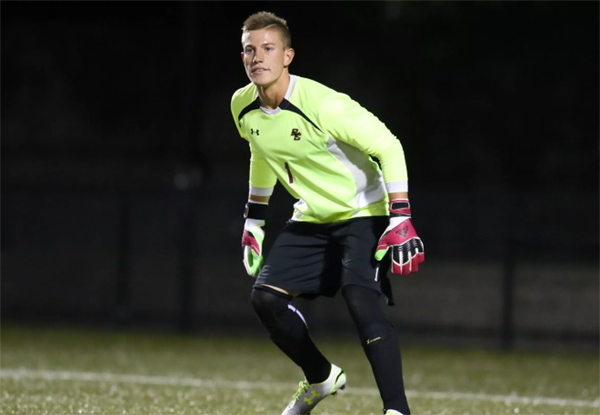Senior goalkeeper Alex Kapp played his last game for the Eagles on Saturday.