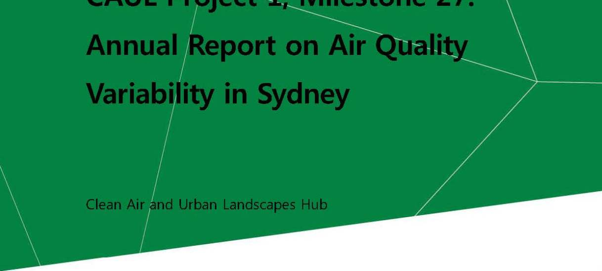 Annual Report on Air Quality Variability in Sydney