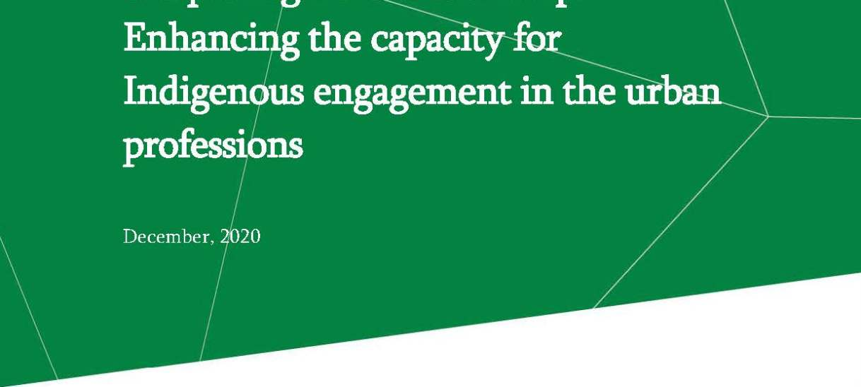 Deepening the Relationship: Enhancing the capacity for Indigenous engagement in the urban professions