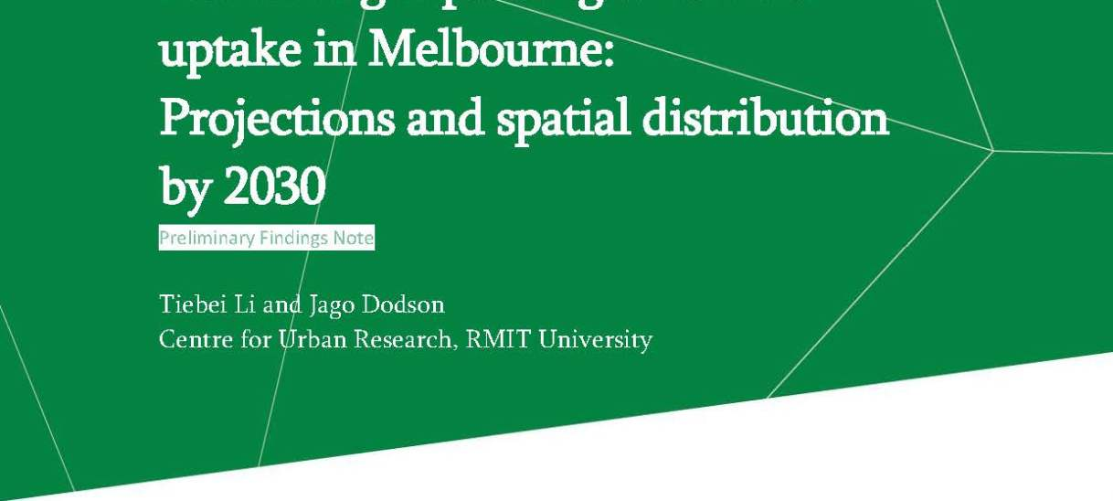 Electric light passenger vehicle uptake in Melbourne: Projections and spatial distribution by 2030